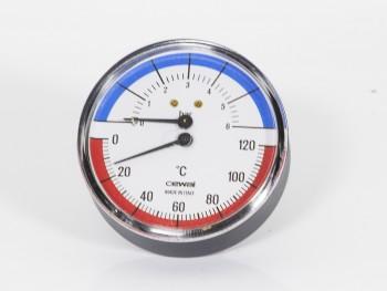 термоманометър с клапан