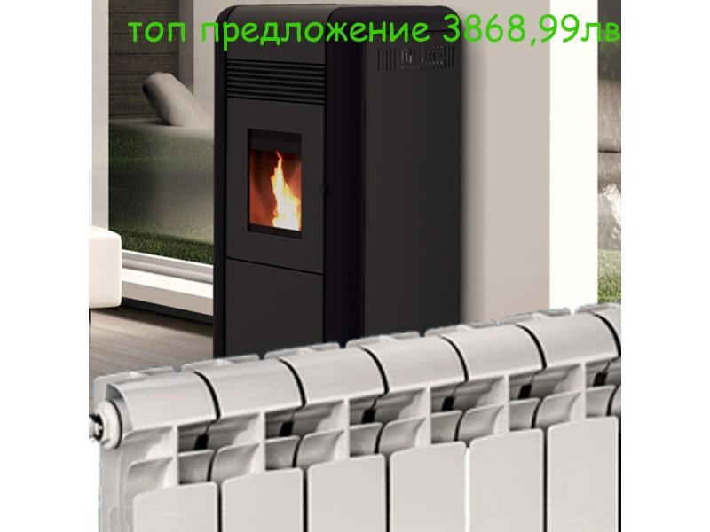 peletna kamina alfa plam s radiator